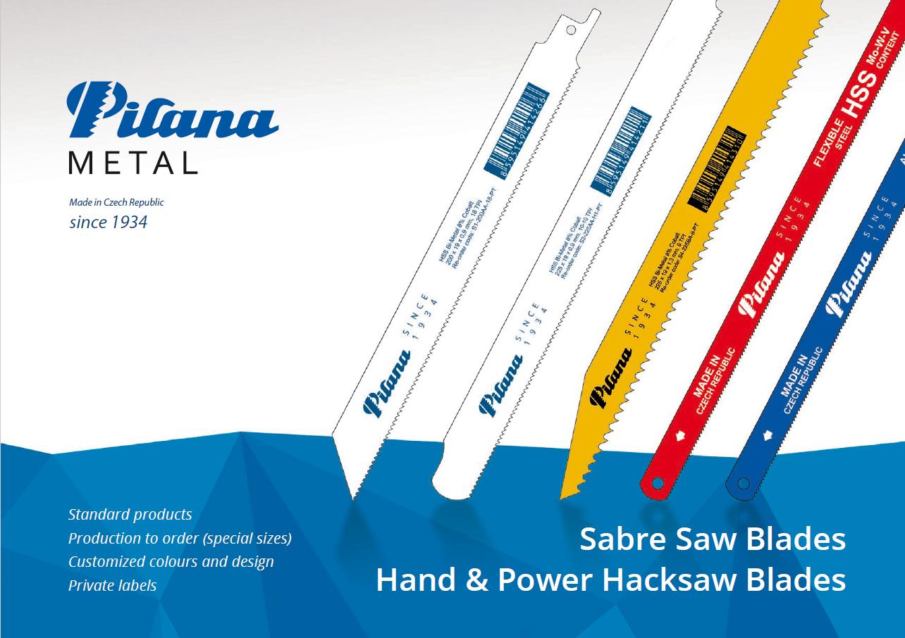 PILANA 10 unidades Hoja de sierra manuales bimet/álica para metal 8/% Cobalt 24 TPI
